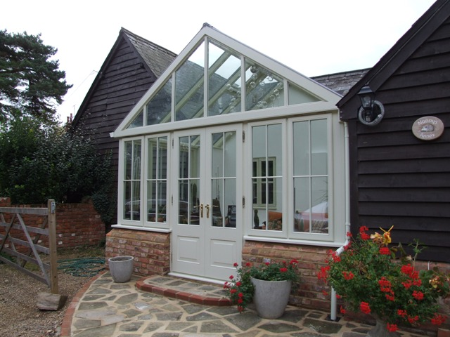 Conservatory on an annex