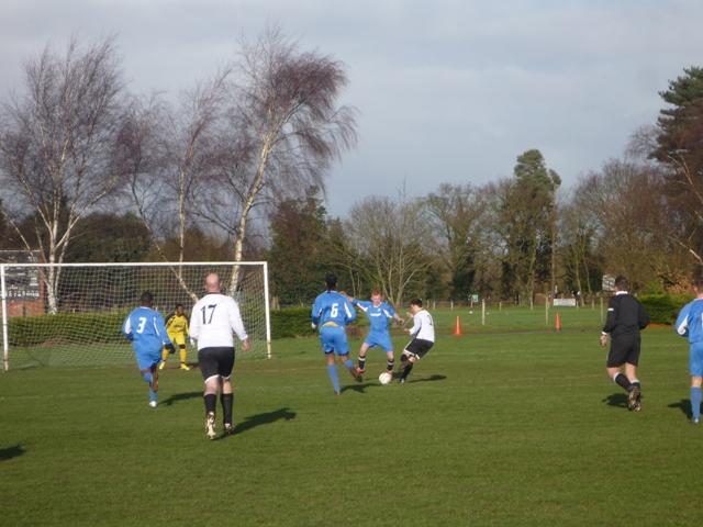 First half - Dwayne's scoring a goal