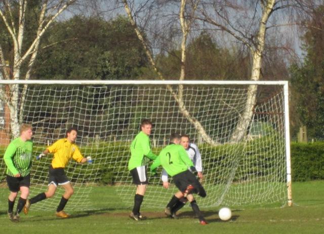 First half - Frettenham scoring their first goal