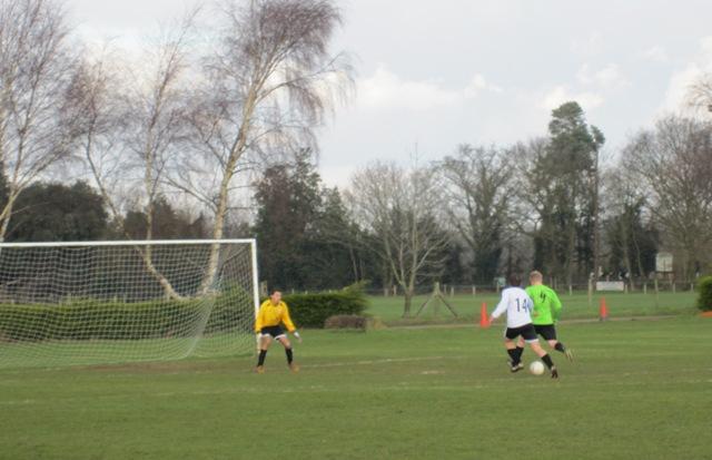 First half - Frettenham scoring against Anglian Knights