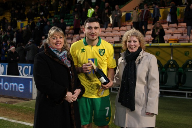 Norwich v Fulhamn Anglian Home Improvements Man Of the Match - Robert Snodgrass