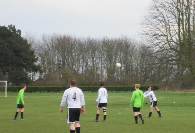 Second half - Anglian Knights Kierstan heading clear