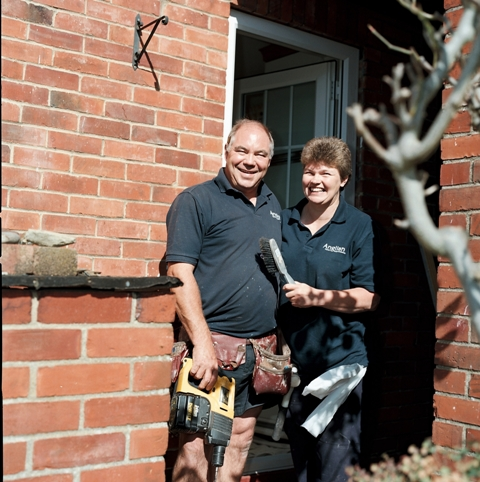 Mr & Mrs Sutherland are installers for Anglian