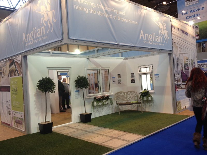 Anglian stand at the Homebuild and Renovating show