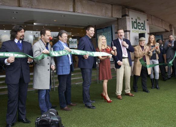 Official opening of the Ideal Home Show