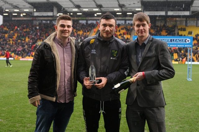Robert Snodgrass was the Anglian Home Improvements Player Of the Month for Feb