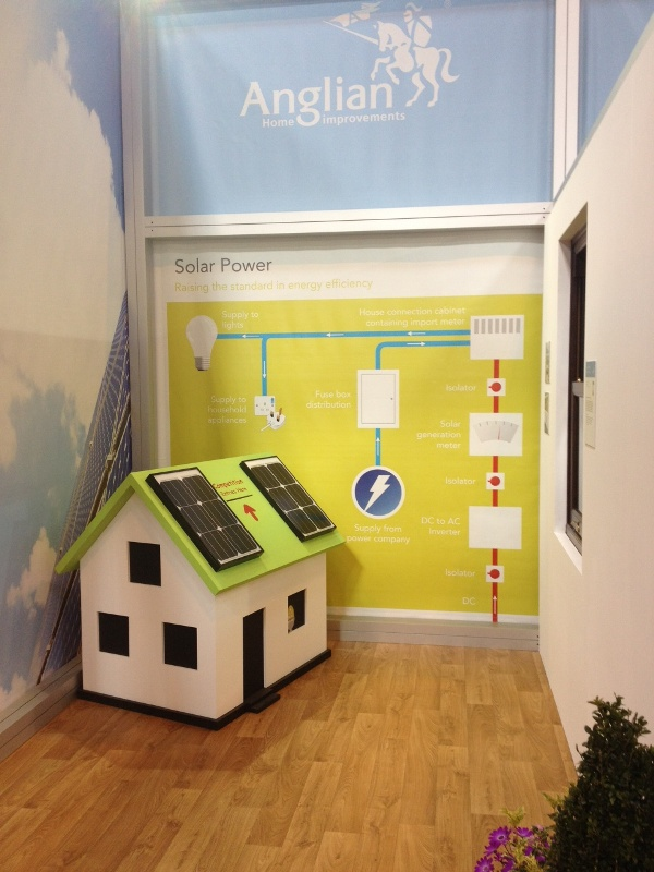 Photovoltaic solar system on the stand