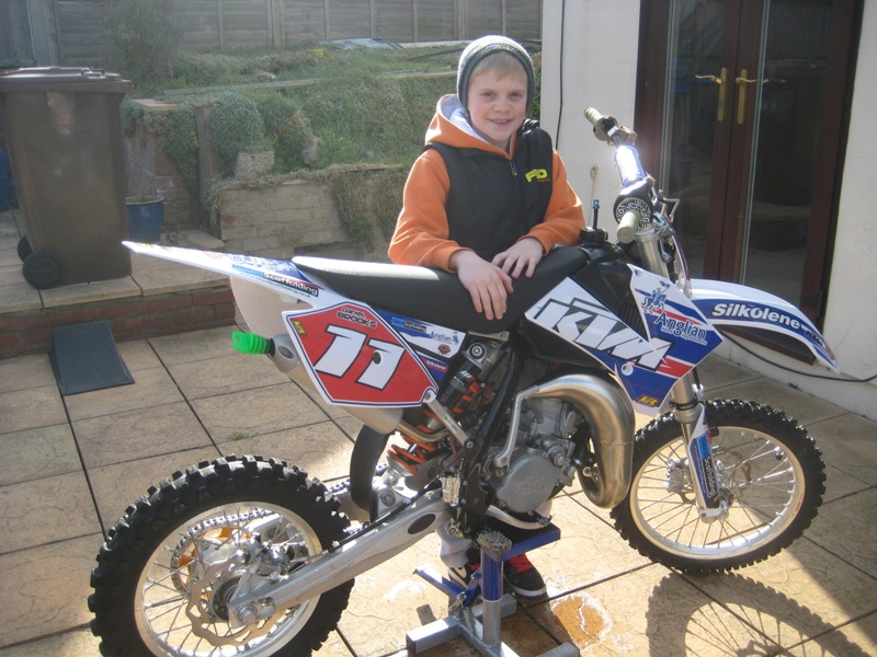 Daniel Brooks can't wait to start testing his bike