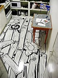 Home drawn floor