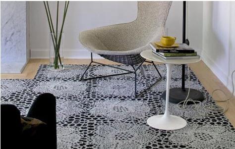 Lace flooring