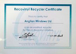 Recycling Cert Recovinyl_250