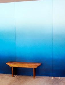 ombre walls design sponge