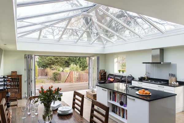 Anglian orangery with a stunning kitchen