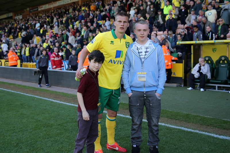 Norwich vs Aston Villa Ryan Bennett was named the Anglian Home Improvements Man of the Match
