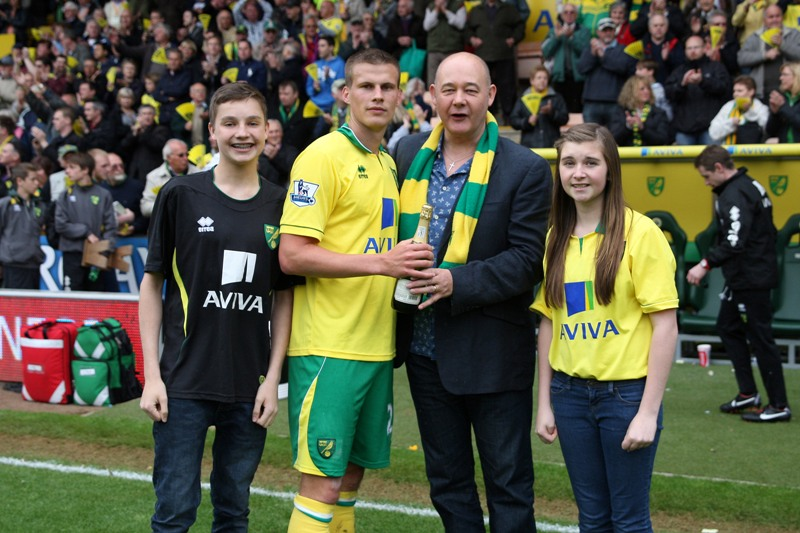 Norwich vs West Brom Ryan Bennett was the Anglian Home Improvements Man of the match