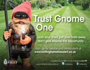 Nottingham Police Gnomes