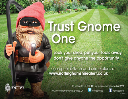 Hi-tech garden gnomes used to secure homes