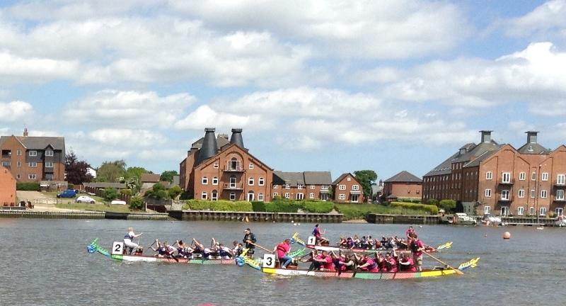 Anglian Nautical Knights leading the way