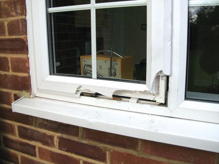Attempted break in through an Anglian Window