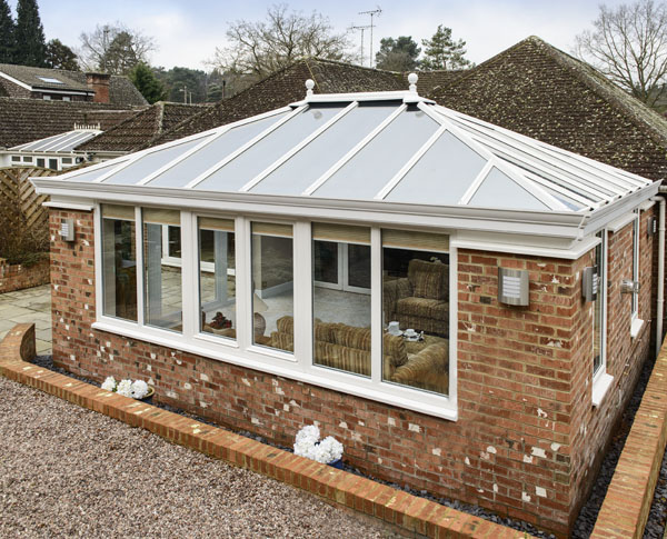 Anglian orangery will full glass roof