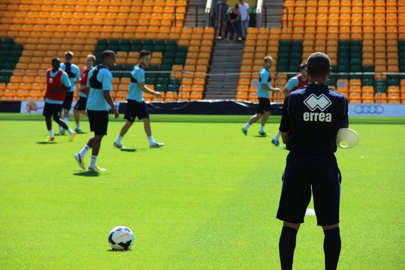 Hughton overlooking training
