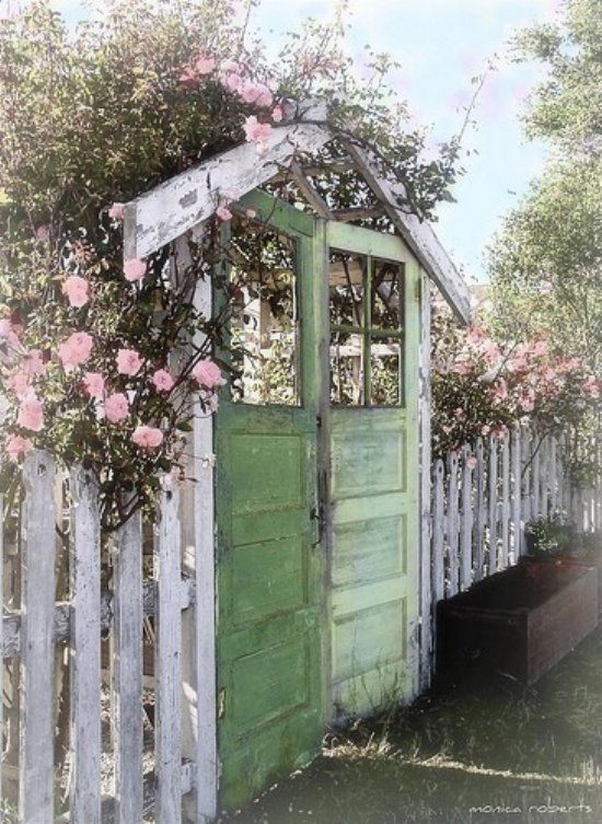 Recycling Your Old Doors For The Garden Good To Be Home