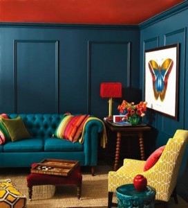 Rich room colours - Pinterest