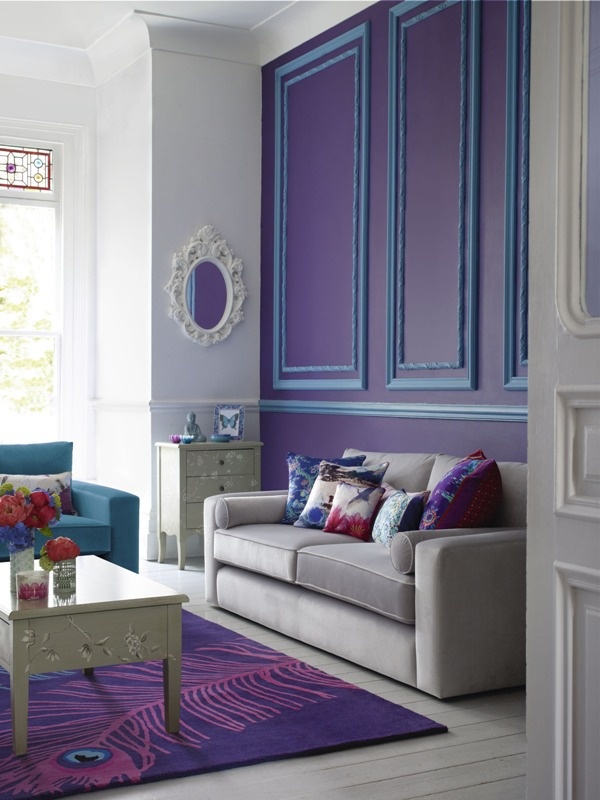 Debenhams purple room