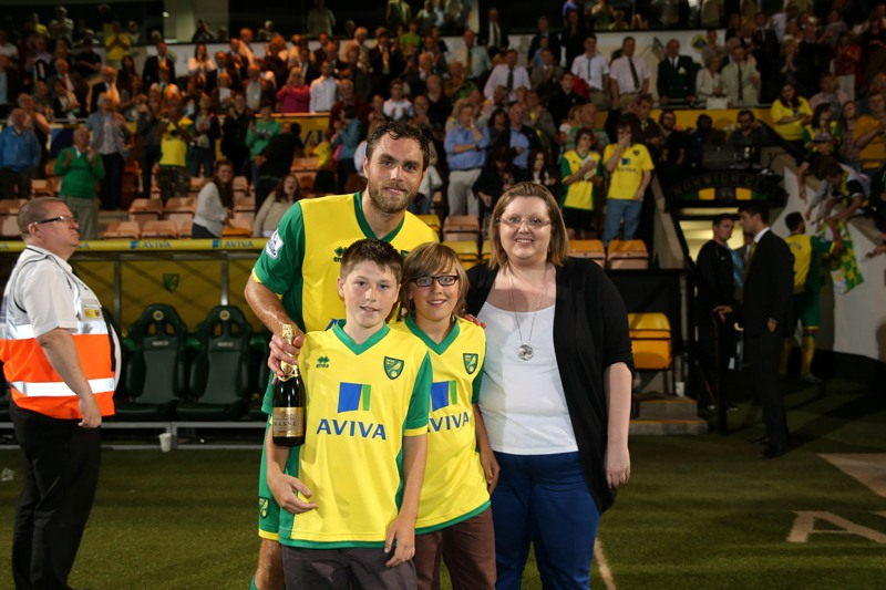 Norwich vs Bury - Johan Elmander was named the Anglian Home Improvements Man of the Match