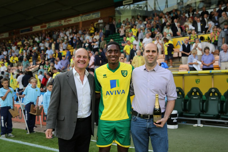 Leroy Fer was named the Anglian Home Improvements Man of the Match