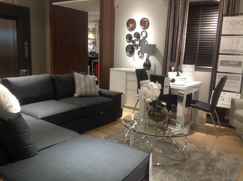 Grey, white and black lounge
