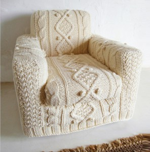 Knitted seat cover