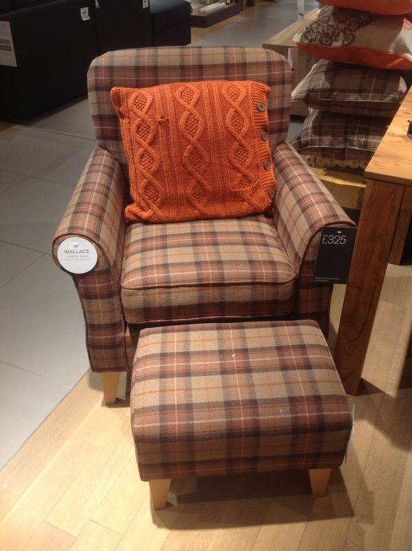 Tartan chair from Next