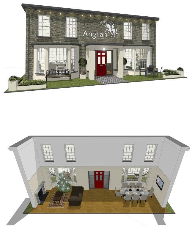 Anglian's Christmas Ideal Home Show Stand