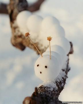 Caterpillar snowman