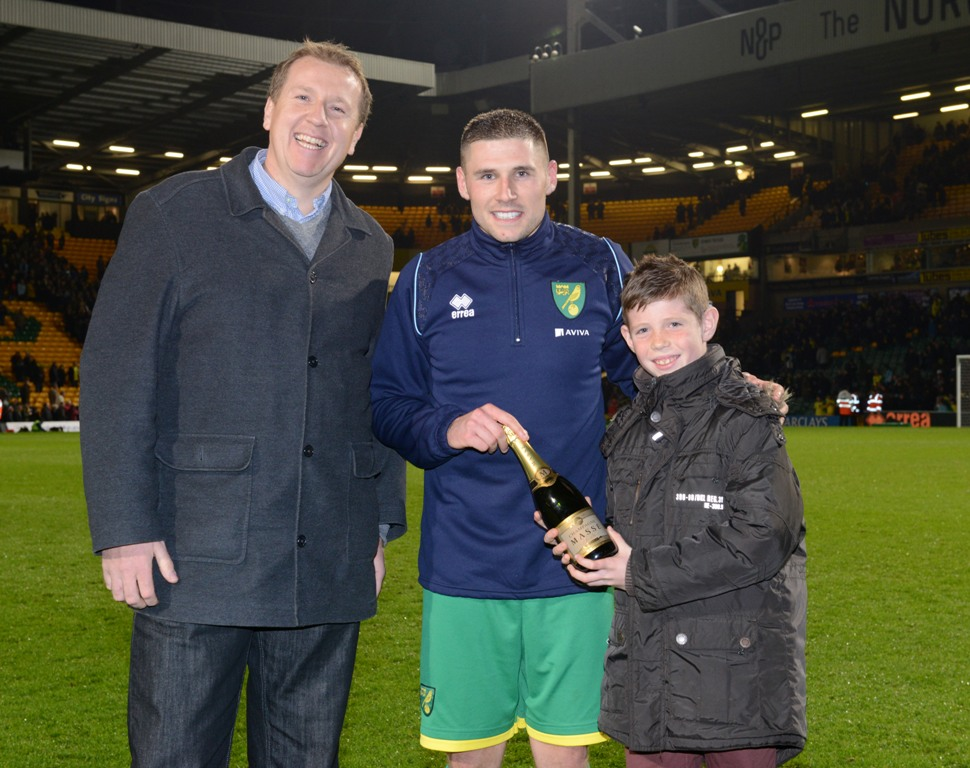 Gary Hooper was named the Anglian Man of the Match against West Ham