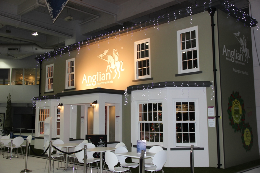 Anglian's Ideal Home Show at Christmas stand