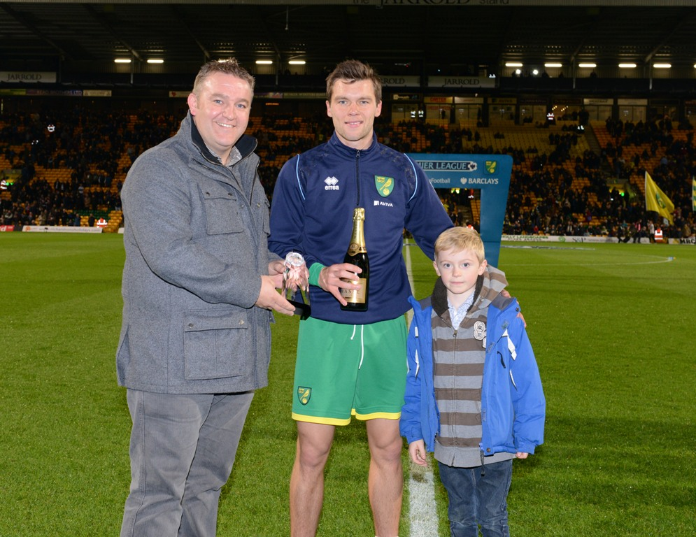 Jonny Howson was named the Anglian player of the Month