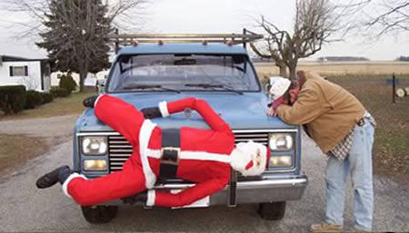 Santa car accessory