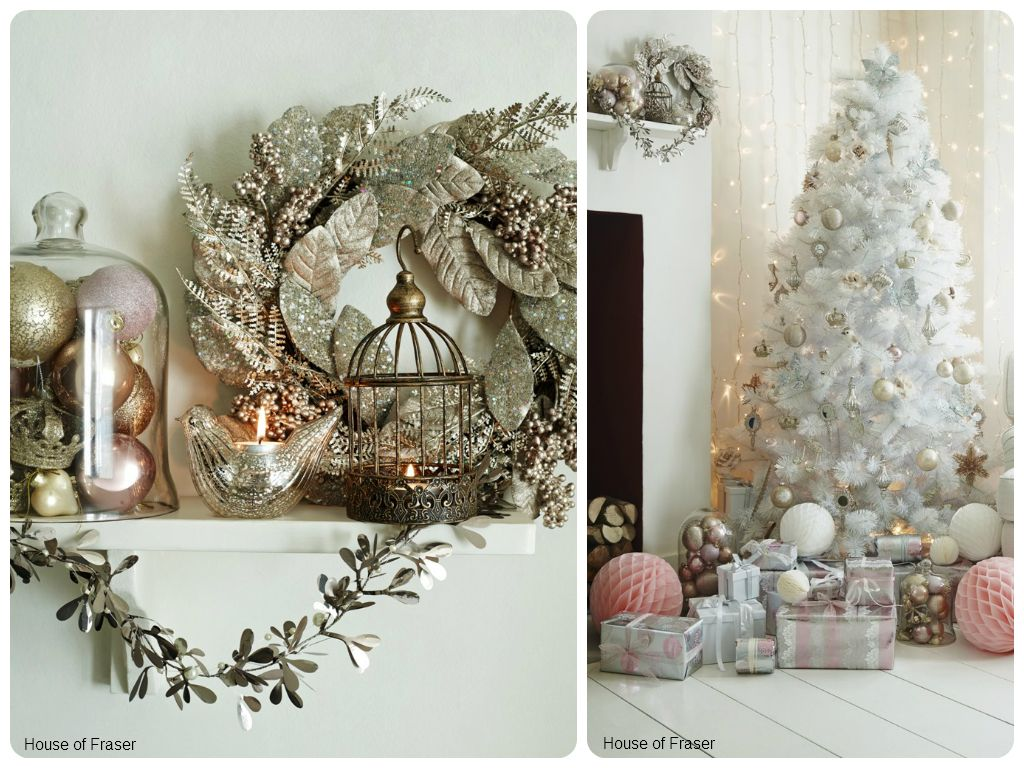 House of Fraser metallic decorations