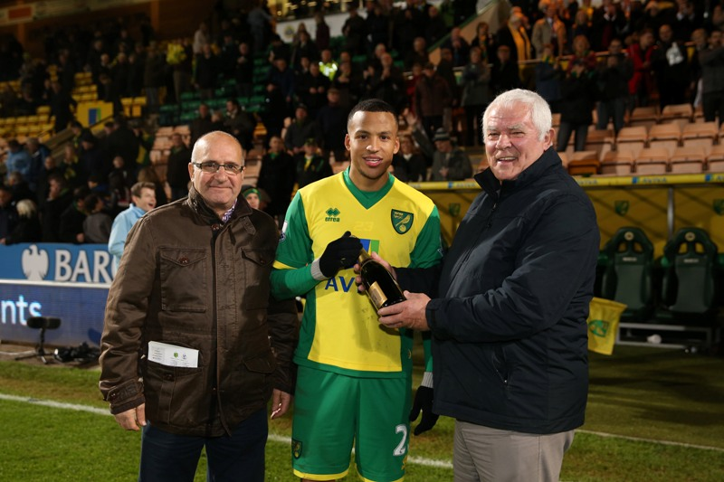 Martin Olsson was named the Anglian Man of the Match against Crystal Palace