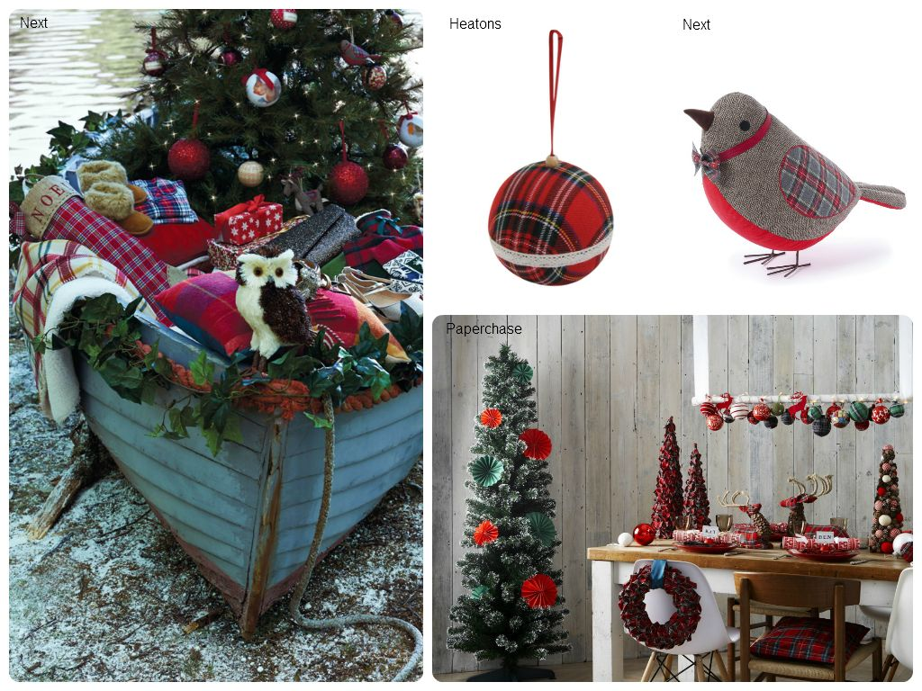 Tartan & Check Christmas decorations