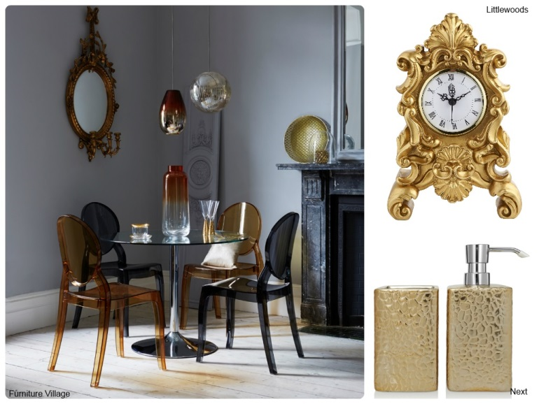 Gold interior designs