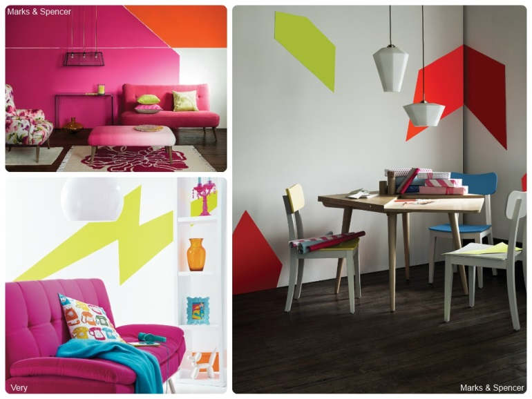 Neon colours are on trend