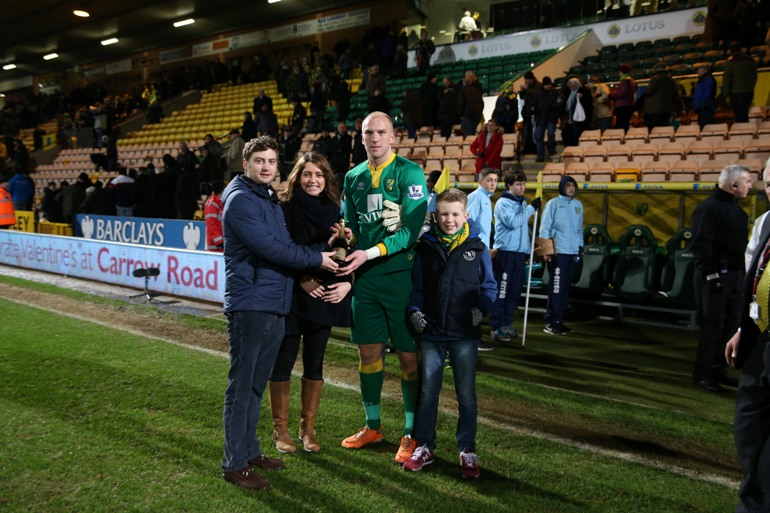 John Ruddy was named Anglian Man of the Match against Newcastle