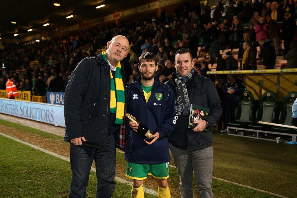 Wes Hoolahan was the Anglian  Man of the Match against Man Utd