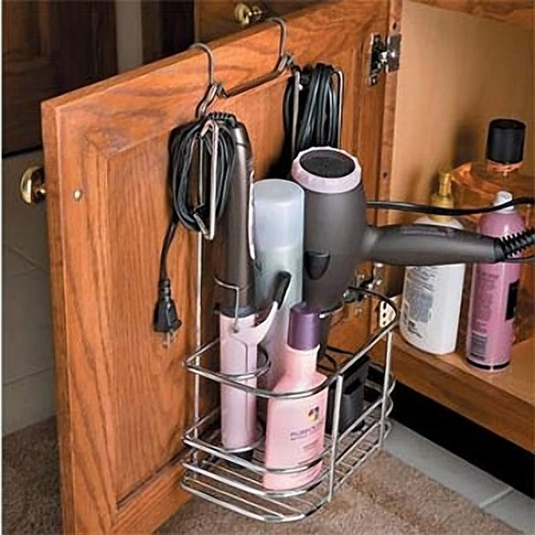 Basket cupboard organiser