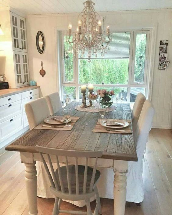 Shabby Chic Kitchen Table: How To: Create A Chic Kitchen On A Budget