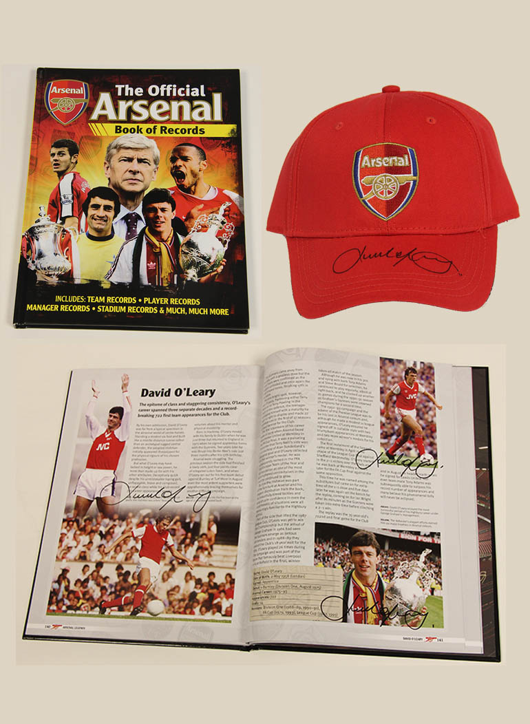 Click here to bid on the Signed Arsenal Cap and Book