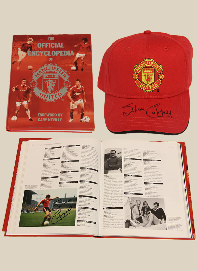Click here to bid on the Signed MUFC Cap and Book